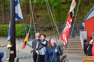 Absegelfeier bei uns am Flaggenmast und dann im DSC @ KLub Stößensee | Berlin | Berlin | Deutschland